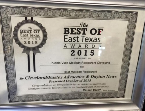 Pueblo Viejo – Cleveland Awarded Best of East Texas Award