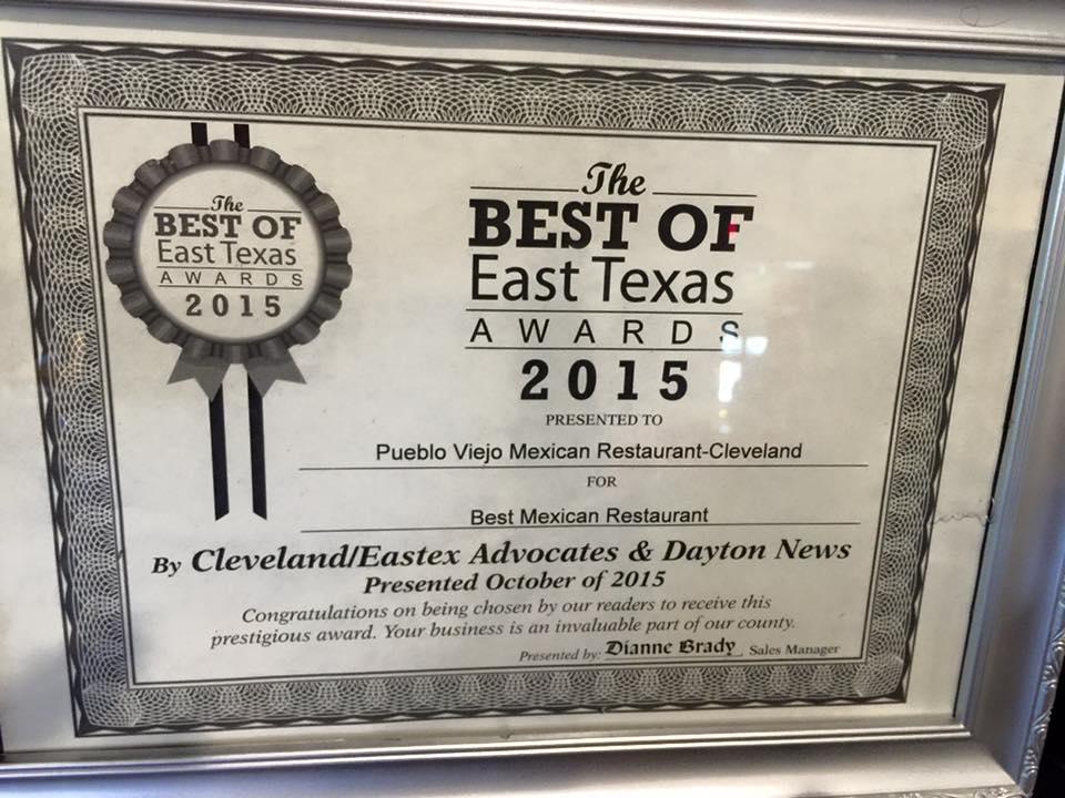Best of East Texas Award