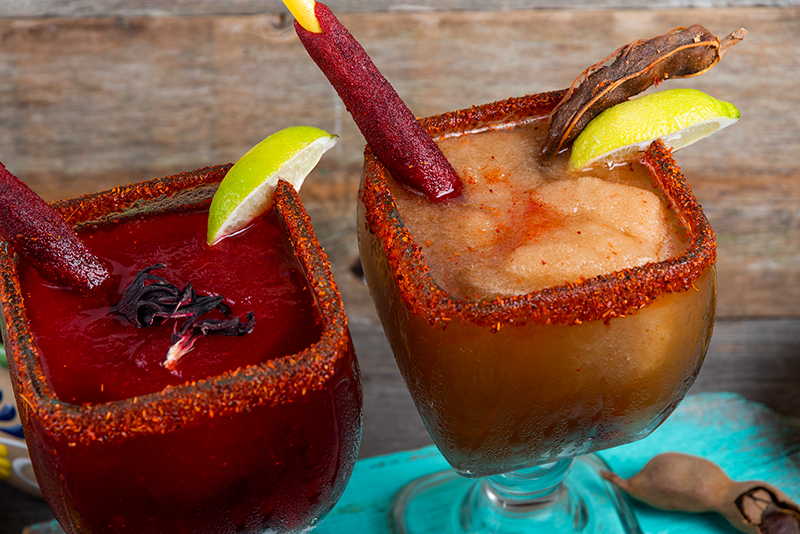 Jamaica and Tamarindo Margaritas